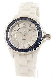 Akribos XXIV Women's AKR498BU Ceramic Baguette Fashion Watch