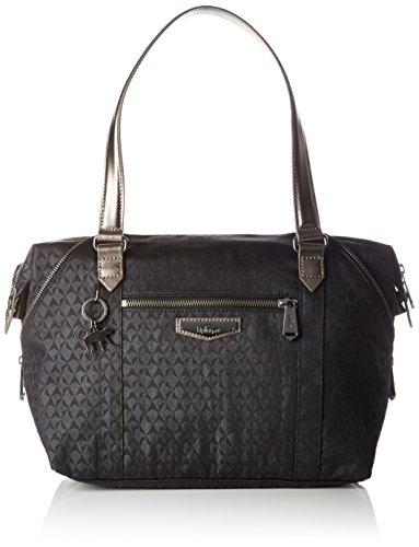 Kipling - Art S, Borse a secchiello Donna Nero (Black Ink Emb)