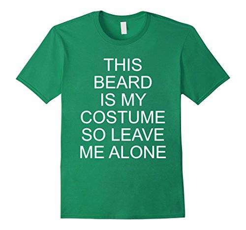 Mens Funny Halloween This Beard Costume Party Gag Gift T-shirt XL Kelly Green (Not So Scary Halloween Party 2017)