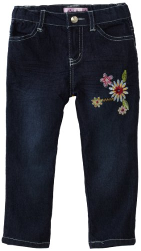 Pink Angel Baby Girls' Floral Embroidered Jean