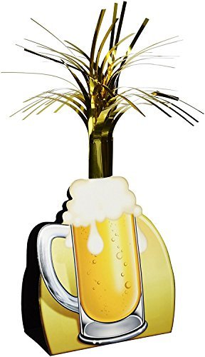 Beistle 57358 Beer Mug Centerpiece, 15-Inch (3-Pack) ()