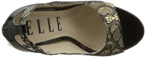 Elle Bolero 02084 - Zapatos de tacón para mujer, color beige, talla 37 Beige (Beige)