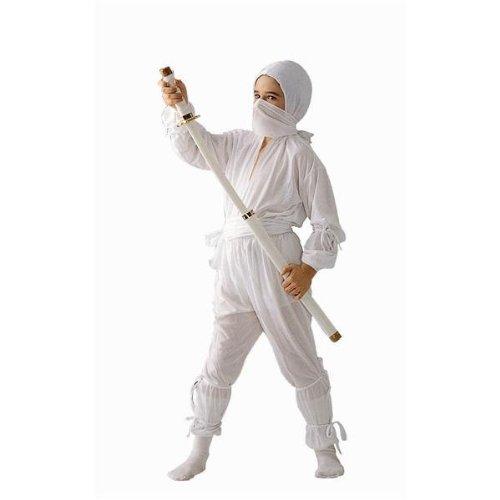 RG Costumes Ninja, White, Child Medium/Size 8-10 (White Ninja Hood compare prices)