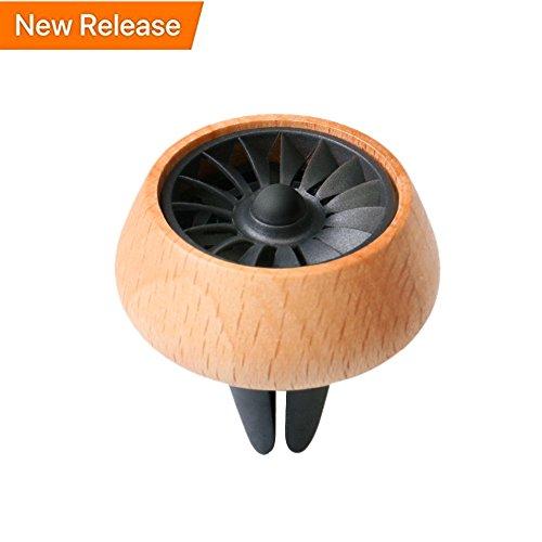 [해외]자동차 향기 기관총 공기 청정기 통풍구 클립, 나무 자동차 아로마 테라피 에센셜 오일 디퓨저 공기 청정기 3 리필 오일 패드/Car Fragrance Diffuser Air Freshner Vent Clip, Wooden Car Aromatherapy Essential Oil Diffuser Air Purifier with 3...