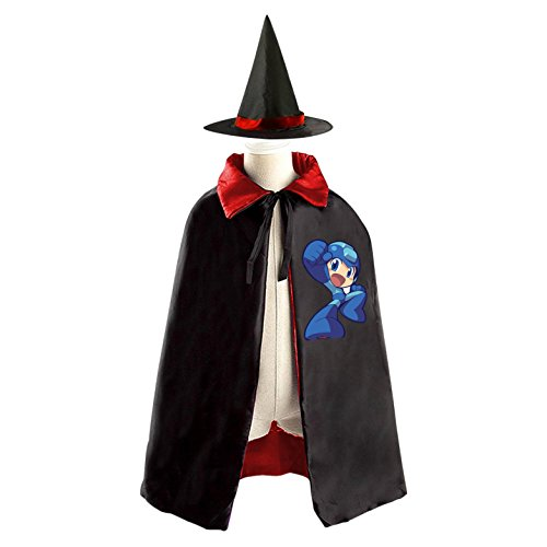 Megaman Childrens' Halloween Costume Cloak Style Various Wizard Hat Cosplay For Kids - Mega Man Costume For Kids