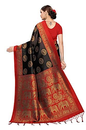 41ue6Mp%2BXCL Anni Designer Women's Art Silk Saree With Blouse