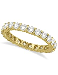 Diamond Eternity Ring Wedding Band 18k Yellow Gold (2.50ct)