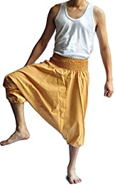 Men Japanese Style Pants One Size All Brown