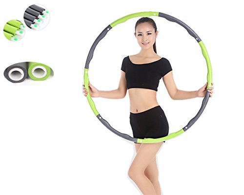 JOINTUP DIY Flexible 39Inch 8 Sections Sports Fitness Waist Trimmer Detachable Hula Hoop (without massage wheels)
