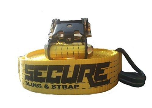 "Secure Sling & Strap U20200201000124 Yellow 2"" x 25"" Ratchet"