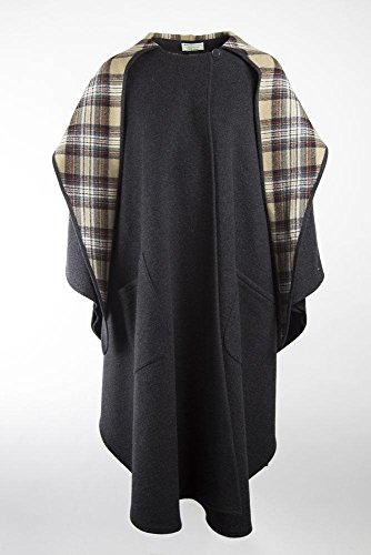 100% Pure Irish New Wool Charcoal Walking Cape By Jimmy Hourihan by The Irish Store - Irish Gifts from Ireland