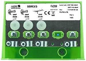 Amplificador de mástil para antenas de TV DTT a abrazaderas