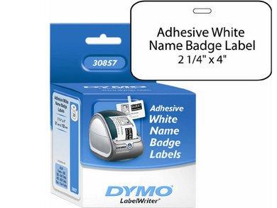 Dymo Label Writer Adhesive Name Badges 2-1/4 X 4 Features Direct thermal (Name Dymo Labelwriter Badge)