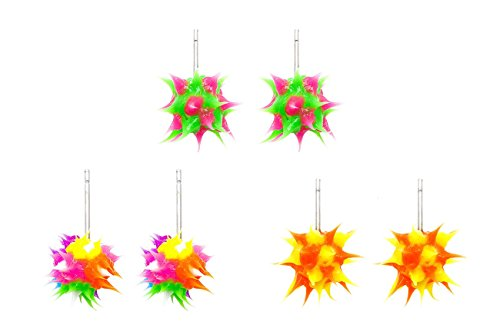 Frogsac Spikeez Trio Spiky Silicone Stud Earring Sets (4)