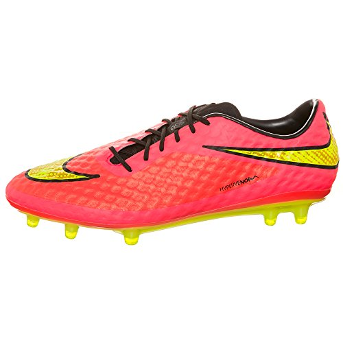 Nike - Zapatillas de fútbol Hypervenom Phantom FG , Hombre , Blanco (Black/Neo Lime-White) bright crimson-volt-hyper punch-metallic