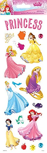 (Sandylion Princess Dreams Clear W/Glitter STK 5.5X12 Paper Craft 5.5 x 12 Stickers, Multi)