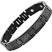 Willis Judd Black Carbon Fiber Titanium Magnetic Bracelet Size Adjusting Tool and Gift Box Included