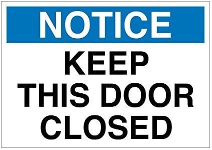 Keep esta puerta cerrada cartel de chapa blanco azul negro ...