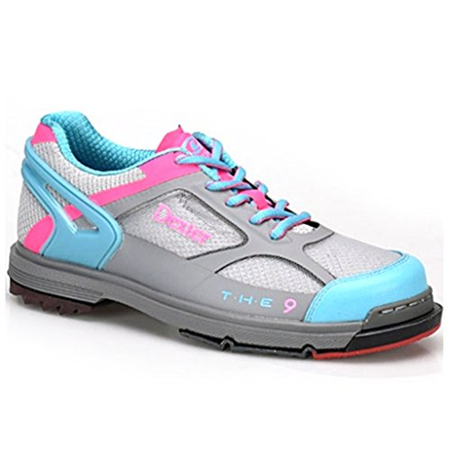 Dexter Womens SST The 9 Bowling Shoes- 6 1/2, Grey/Blue/Pink, 6.5