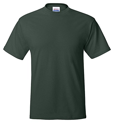 Hanes Adult ComfortBlend Eco Smart Crewneck Hem T-Shirt, Deep Forest, XXX-Large