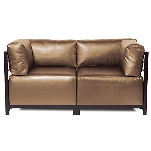 Howard Elliott K922M-294 Axis Sectional Sofa with Mahogany Frame, Shimmer Bronze, 2-Piece
