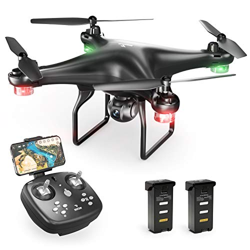 SNAPTAIN SP600 WiFi FPV Drone with 720P HD Camera, Voice Control, Gesture Control, Gravity Control, RC Quadcopter with Altitude Hold, Headless Mode, One Key Take Off/Landing/Return and VR Mode ()