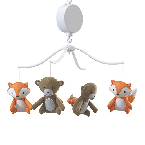 Bedtime Originals Baby League Sports Animals Musical Mobile, - Baby Crib Musical Brown Mobile