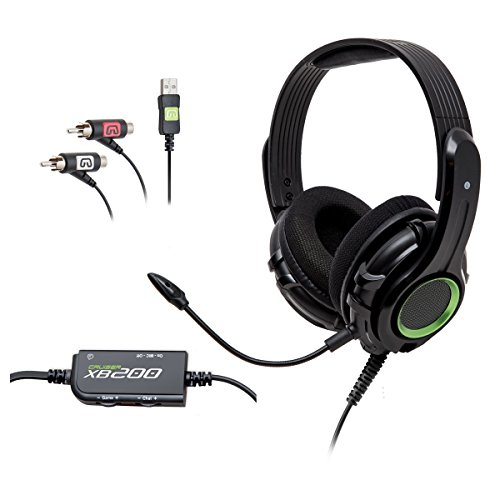 GamesterGear Cruiser XB200 2.0 Stereo Gaming Headset with Detachable Boom Microphone for XBOX 360 Console, Black Color