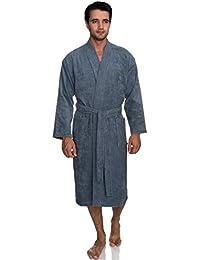 Men's Robe, Turkish Cotton Terry Kimono Bathrobe Made in Turkey