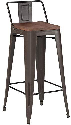 wood bar stools with backs - 4