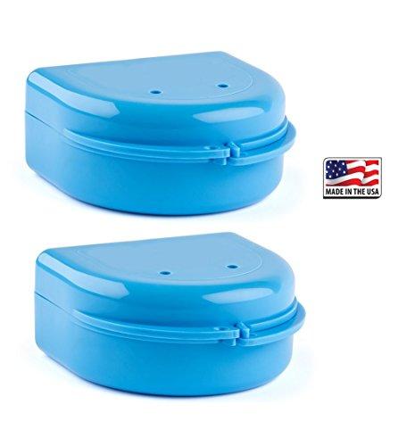 Price comparison product image 2 Pack- Snap Lock Retainer Case; Blue
