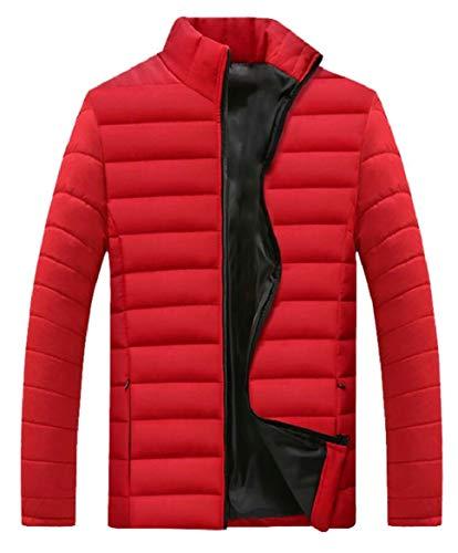 Esterno Leggero Cuscino Sicurezza Cappotto Maschile Inverno Packable Rosso Giù Ultra Piumino Trapuntato OqXftvZw