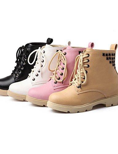 Plataforma Uk3 Cn34 Mujer Casual Eu39 Uk6 us5 negro Exterior Eu35 Zapatos Semicuero Pink Moda us8 Black Comfort Xzz Trabajo De La Amarillo Cn39 A Botas Oficina Y wqtOf4F