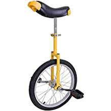 "AW Yellow 18"" Inch Wheel Unicycle Leakproof Butyl Tire Wheel Cycling Outdoor Sports Fitness Exercise Health"
