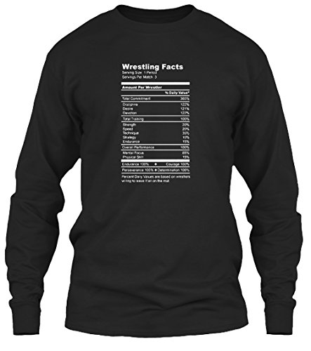 [Teespring Unisex Wrestling Facts Funny Wrestler Nutrition Guide Quote Gildan 6.1oz Long Sleeved Shirt XXXXX-Large] (Pun Costumes For Guys)