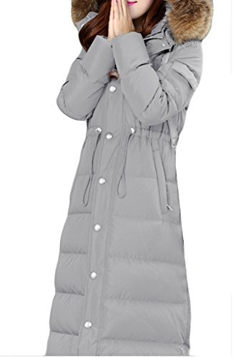 Lyxcls Coat Down Long Light Warm Slim Grey Fit Women's Duck BSwrUBq