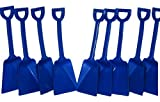 Small Blue Toy Plastic Shovels Wholesale Lot, 7 Inches Tall, Pack 500.