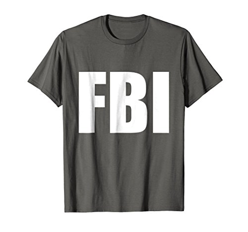 FBI Replica Agent Inspector Funny Halloween Costume T-Shirt