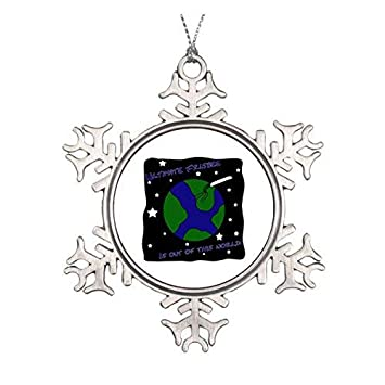 fd0c787f040d4 Amazon.com: Christmas Snowflake Ornament Ultimate Frisbee Out of ...