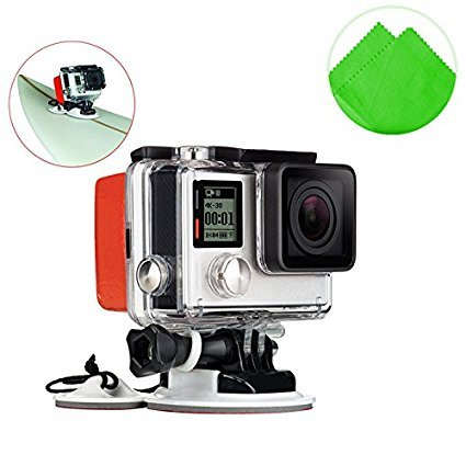 First2savvv GO-CLB-M05 white Bodyboard Surfboard Mount adapter for Swimming Rowing Surfing Skiing Diving Sports fit for GoPro Hero Camera 6 5 4 3+ 3 2 HERO4 Session sj4000 sj5000 Xiaomi yi