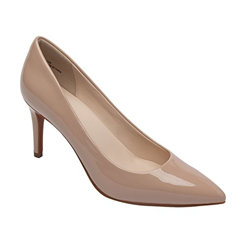 Nahkaa Maksu Lilian Mukava uusi Vegaani Kevät Patentti Korkokenkiä Tai Vegan Toe Stiletto Nude Heel Pumppu Spring Pointy Pump Naisten Pic High pay Comfortable new Or Tikari Leather Teräväkärkiset Women's Patent Pic qtARpw5