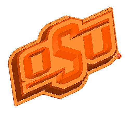 NCAA Oklahoma State Cowboys Cake Pan with Stand, One Size, Orange