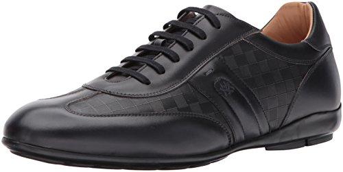 Mezlan Men's Baena Fashion Sneaker, Black, 10.5 US/10.5 M (Calfskin Leather Sneakers)