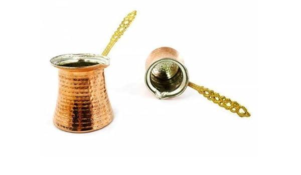 Cafetera turca de cobre Jazva Jazwa Ibrik Briki: Amazon.es: Hogar