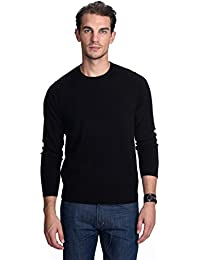 Men's 100% Pure Cashmere Long Sleeve Pullover Crew Neck Sweater