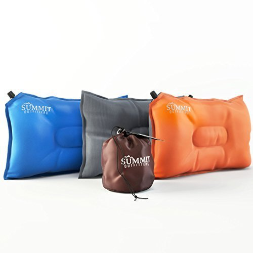 Summit Outfitters Camping Pillow Inflatable Compressible Self Inflating Summit Outfitters Air Pillow...