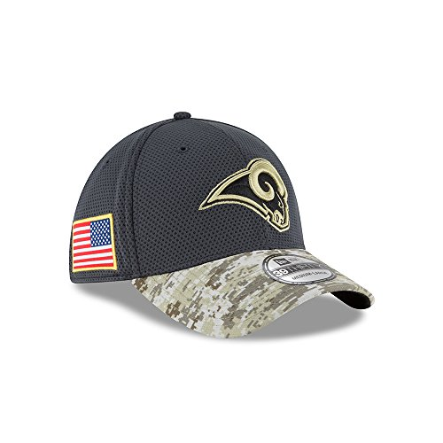 New Era 39Thirty Hat Los Angeles Rams NFL 2016 Salute to Service Gray Camo  Cap (L XL) - Buy Online in Oman.  1ae9bfdebc8