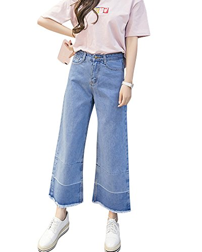 Et Jeans Femme Confortable Large Tailles Bleu Grandes Casual lastiqu Denim Clair Dcontract Jambe vas Pantalons ShiFan ngfqaUwa
