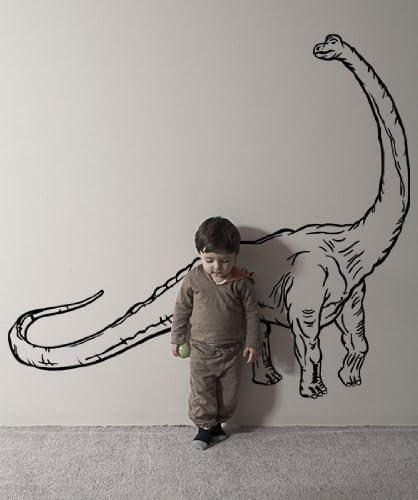 28 wide x 72 tall Brachiosaurus Dinosaur Chalkboard Wall Decal