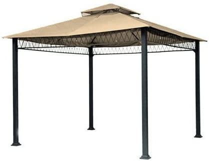 Garden Winds LCM430B-UGF-RS Havenbury Gazebo-Riplock 500 Performance Fabric Replacement Canopy, Beige